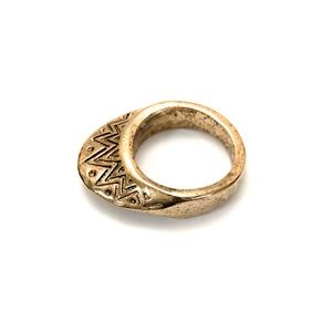 House of Harlow 1960 Etched Ring in Yellow Gold